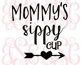 Mommy's Sippy Cup Vinyl Decal
