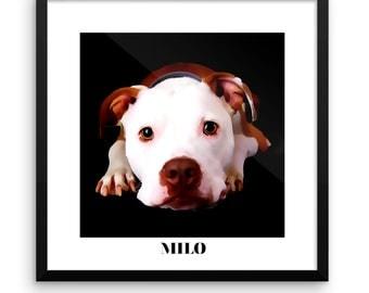 Digital Oil Pet Portrait
