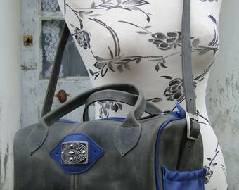 Handbag, shoulder 100% leather and hand-made