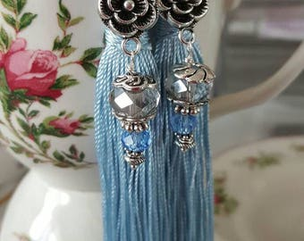Tassel earrings convertible victorian dangle style