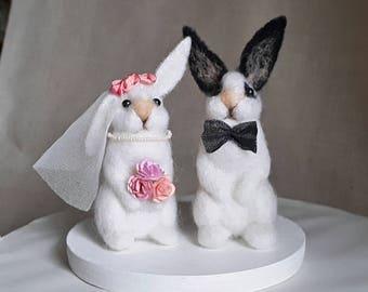 Wedding Cake Topper Love bunnies