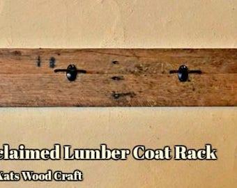 Unique Reclaimed Lumber Coat Rack