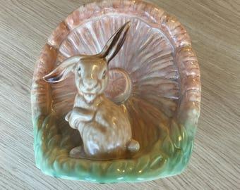 1940's Sylvac Rabbit & Mushroom Vase