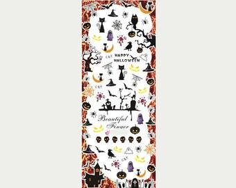 Halloween nail water decals/ Happy halloween nail stickers/ Nail decorations/ Nails/ nail art supplies/hot199