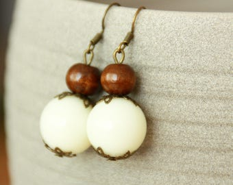 Earrings earrings big Pearl,