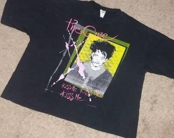 Vintage 1987 The Cure Kiss Me Kiss Me Kiss Me Promo T shirt !!