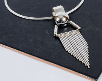 The Silver Sun Collar Statement Necklace