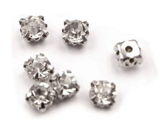 100 crystals set 5 mm clear white