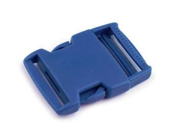 2 clip 30 mm blue strap