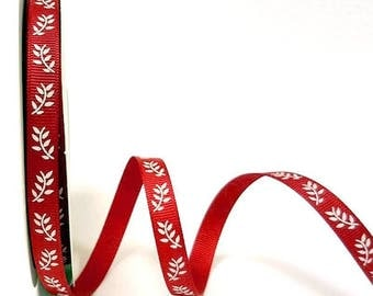 Stripe 9 mm white and Red leaves