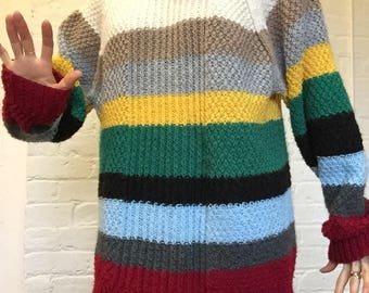 Over the rainbow, knit jumper