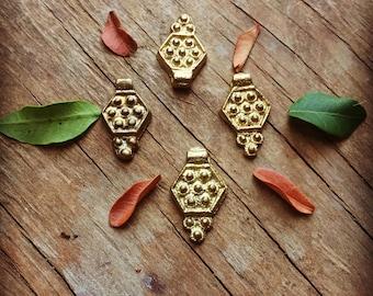 Charm Brass 5/10/20 PC Tribal brass charm 23 mm art supplies metal beads bohemian metal Antique Brass artofgoddess