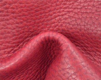 """Autumn Fire Leather Cow Hide 8"""" x 10"""" Pre-cut 5 1/2-6 oz Large Pebble Grain TA-57926 (Sec. 3,Shelf 2,B)"""