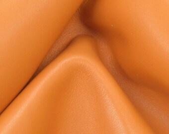 "Tiger Lily Orange Leather Cow Hide 8"" x 10"" Pre-cut 3 1/2-4 oz TA-59758 (Sec. 4,Shelf 4,B)"