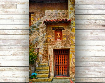 MISSION - California Art - Architecture - Door Photography - Mission San Carlos - Wood Panel - Art Panels -Carmel - 17 Mile Drive