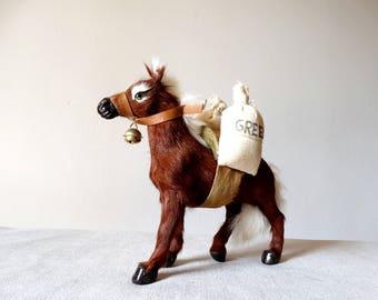 Donkey Figurine, Donkey Gift, Donkey Decor, Taxidermy Gift, Donkey Art, Fur Taxidermy, Animal Miniature, Taxidermy Art, Donkey Decor