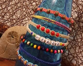 Handmade Hemp Choker in a variety of styles/colours