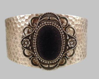 Silver Cuff Bracelet - Repurposed Vintage - Southwestern Cuff Bracelet - Reclaimed Vintage Jewelry
