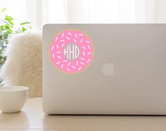 Donut Monogram Decal