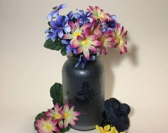 Sagittarius. Etched Glass Astrology Mason Jar Tea Light Gift For Horoscope Followers. Decorative Storage Container. Birthday Flower Vase