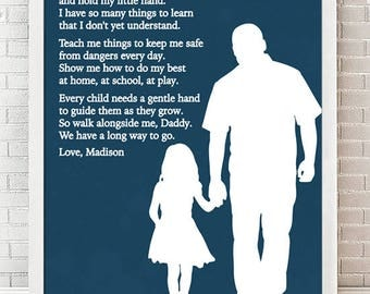Fathers Day Gift - Dad Gifts from Daughter, From Son, Fathers Day Print, Gift for Dad, Personalized Dad Gift from Kids