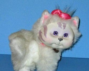 SALE Cabbage Patch Kids, Adopt and Luv, Mattel White Cat,  Vintage 1980s, Original Box  Included, Rare Hard to Find