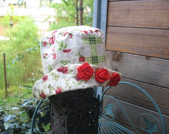 shabby chic red roses Hat