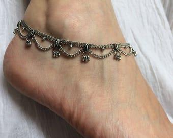 Anklet silver pendants 19