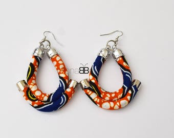 African fabric earrings,Boho fashion, Gift for women, Gifts idea, Bijoux Africains, Boucles d'oreille, Tribal Earrings