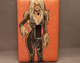 Black Cat Comic Book light switch cover