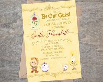 Beauty Belle Beast Bridal Shower Invitation
