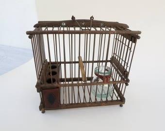 Vintage Spanish Finch Bird Cage - Old Bird Cage - Cottage Chic