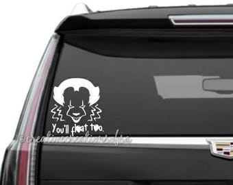 Pennywise It Decal Etsy