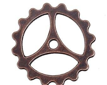 bronze gear COG steampunk 22mm