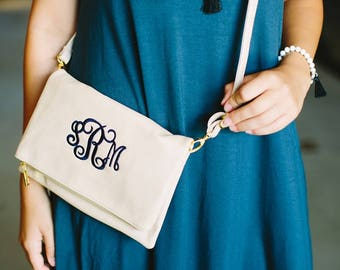 Monogrammed Foldover Clutch | Faux Leather | Foldover Clutch | Monogrammed Gift