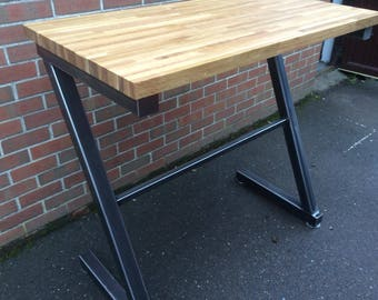 Solid Chunky Steel Breakfast Bar Dining Table Made to Order Other Sizes Available