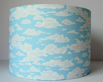 Cloud Lampshade, Cloud Nursery Decor, Cloud Light, Nursery Lighting, Nursery Clouds, Girl Nursery Decor, Blue Sky, Blue and White Lamp Shade