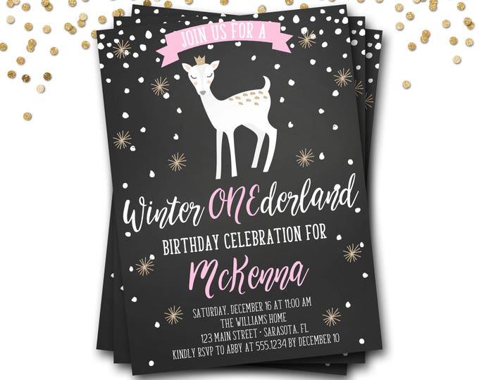 Winter Onederland Birthday Invitation, Winter Onederland Invite, Winter Onederland Invitation, Winter Wonderland, First Birthday
