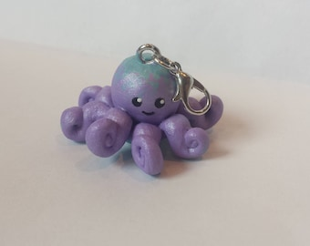 Cute Pearlescent Octopus Charm