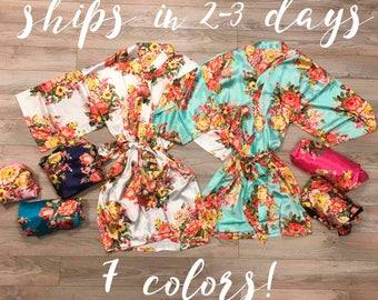 Bridesmaid Robes, Bridesmaid Gift, Kimono, Bridal Party Robes, Wedding Robe, Wedding Kimono