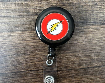Flash retractable badge holder