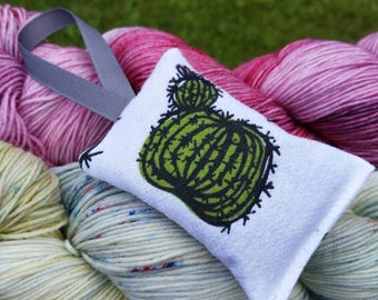 Cactus Lavender Sachet Handmade
