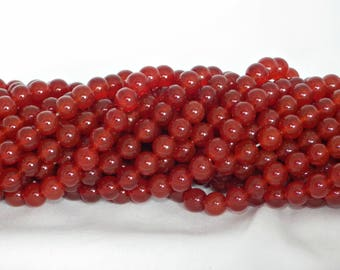 A Grade 8mm Carnelian Beads on String