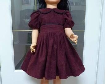 "UniKaren Designs Patti Playpal 35"" 36"" doll or similar DRESS & BLOOMERS ultra suede quality"