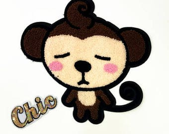 Monkey patch vintage embroidered appliue  sew on cute patch