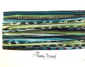 Green Navajo Boho Headband