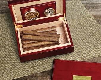 Personalized Cigar Humidor - Custom Engraved Humidor - Cigar Humidor - Gifts for Him - Groomsmen Gifts - Gifts for Men - GC151