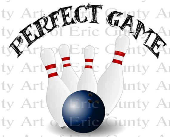 Bowling Perfect Game Birthday - Edible Cake and Cupcake Topper For Birthday's and Parties! - D22673