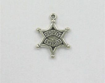 Sterling Silver Deputy Sheriff Badge Charm