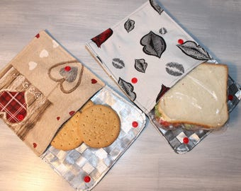 2 sandwich or eco friendly reusable snack bags